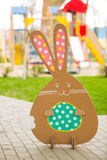 Rabbit made ��from organic paper in park Stock Photography