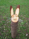 Rabbit made from wood Royalty Free Stock Photography