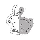 rabbit magic show cut line Royalty Free Stock Images