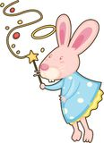 Rabbit with magic stick Royalty Free Stock Photo