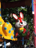 Rabbit on merry go round, Laos, Savannakhet. Colorful rabbit on a carousel in Savannakhet, Laos Royalty Free Stock Photos