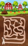 A rabbit maze game. Illustration royalty free illustration