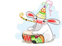 Rabbit musician Royalty Free Stock Photo