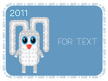Rabbit.New Year symbol. New year Rabbit .Vector background for design Vector Illustration