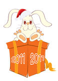 Rabbit.New Year symbol for text Stock Image
