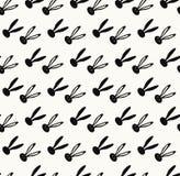 Rabbit PRINT. PRINT Rabbit elegant seamless pattern. Black bunny on off-white color background, diagonal stripes . Vector Illustration. Retro style Wallpaper royalty free illustration