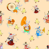 Rabbit orchestra red Royalty Free Stock Photos