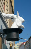 Rabbit out of the hat magician, Vienna, Austria Royalty Free Stock Photo