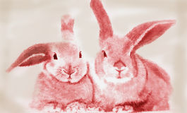 Rabbit. Out of a picture book Stock Images