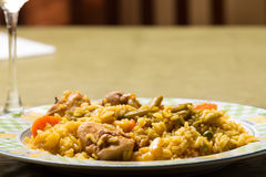 And rabbit paella rice Royalty Free Stock Photography