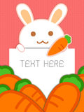 Rabbit with paper Royalty Free Stock Photos
