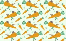 Rabbit pattern background royalty free illustration