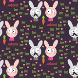 Rabbit Pattern Stock Photography