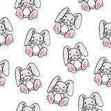 Rabbit pattern Stock Images