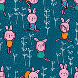 Rabbit play seamless pattern Royalty Free Stock Photography