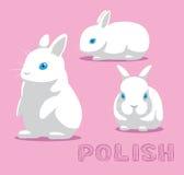 Rabbit Polish Cartoon Vector Illustration Stock Photography