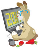 Rabbit the programmer Royalty Free Stock Photo