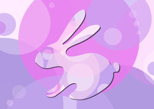 Rabbit-on-purple-background Stock Image
