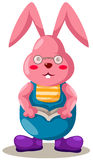 Rabbit reading a book Royalty Free Stock Image