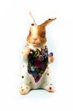 Rabbit resin with gemstone Stock Photos