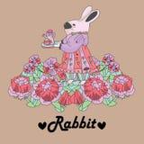 Rabbit retro background Royalty Free Stock Photos