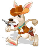 A rabbit running with a gun Stock Images