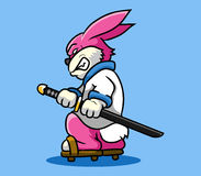 Rabbit Samurai Stock Images