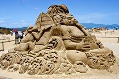 Rabbit sand sculpture Royalty Free Stock Photos
