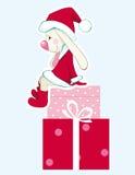Rabbit - Santa Claus Royalty Free Stock Image