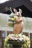 Rabbit sculpture in the garden Stock Image