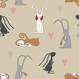 Rabbit Seamless Pattern Royalty Free Stock Images