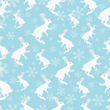 Rabbit seamless pattern. Royalty Free Stock Photo