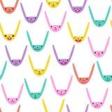 Rabbit Seamless Pattern-04 Royalty Free Stock Image