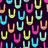 Rabbit Seamless Pattern-07 Stock Photography