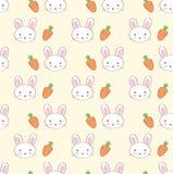 Rabbit seamless pattern Stock Photo