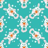 Rabbit seamless pattern Royalty Free Stock Photo
