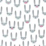 Rabbit Seamless Pattern-16 Stock Image