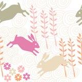 Rabbit seamless texture, endless vector illustration Royalty Free Stock Photo