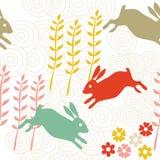 Rabbit seamless texture Royalty Free Stock Image