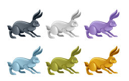 Rabbit set Royalty Free Stock Image