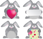 Rabbit set Stock Photo