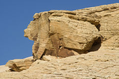 Rabbit Shaped Rock. A rabbit shaped rock formation at Red Rock Canyon, Nevada Stock Images