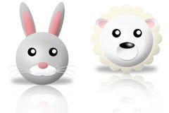 Rabbit and sheep animals icons royalty free stock photos