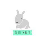 Rabbit sign. Cruelty free. Vegan. Stock Photos