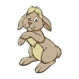 Rabbit. Single colorful rabbit on white Royalty Free Stock Photography
