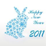 Rabbit from snowflakes. Christmas background Royalty Free Stock Photos