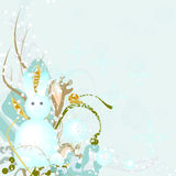 Rabbit - a snowman Royalty Free Stock Photos