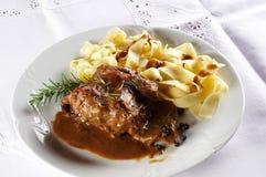 Rabbit steak Stock Photos
