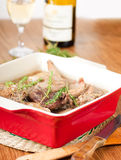 Rabbit stewed Stock Images