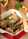 Rabbit stewed Royalty Free Stock Photography